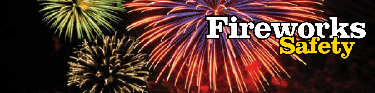 fireworks safety banner