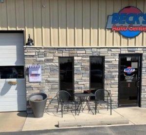 Beck's Auto Center shop entrance