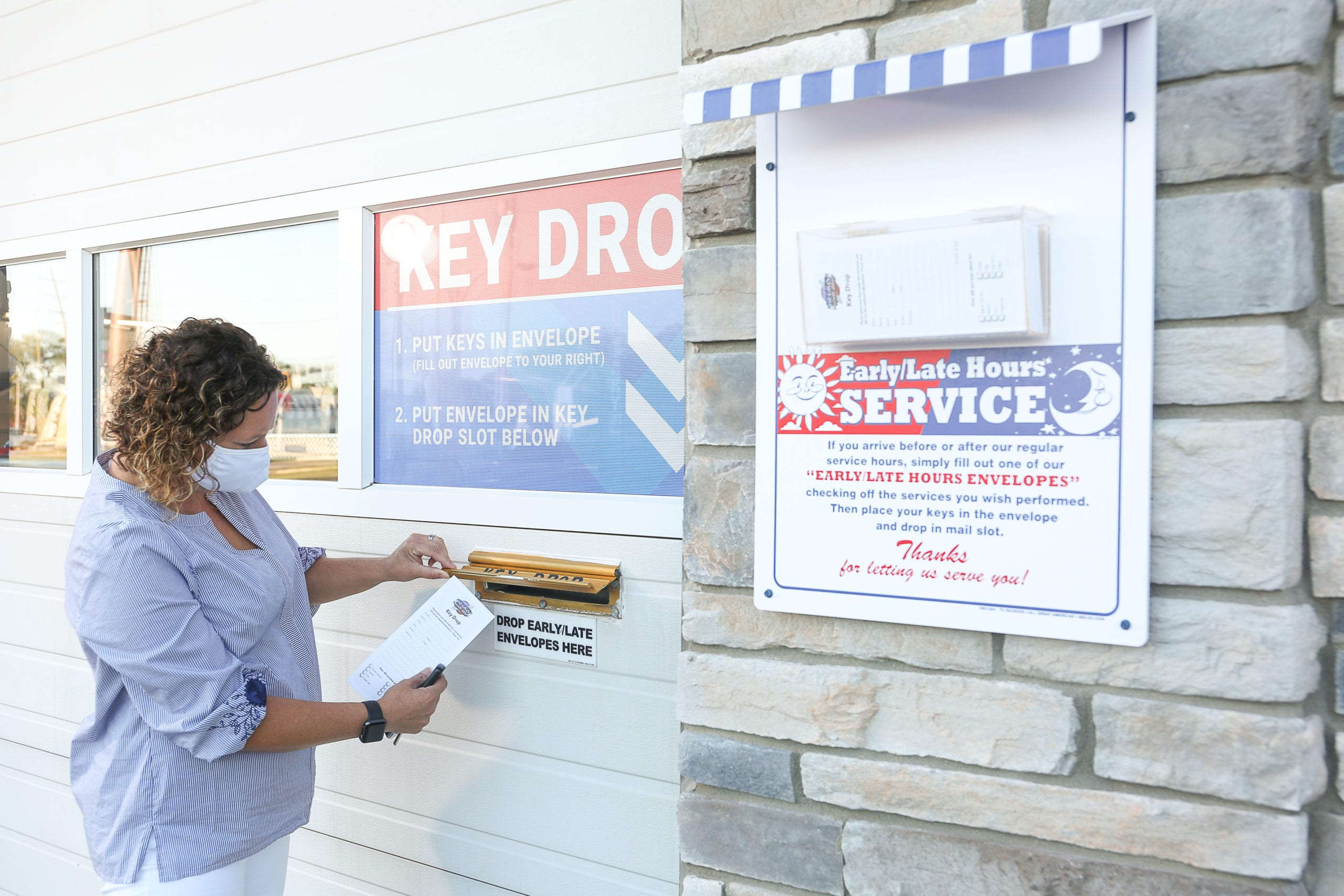 beck's auto center's after hours key drop option