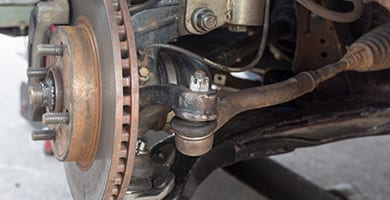 beck's auto center repairs and services your vehicle's disk brakes and ball joints