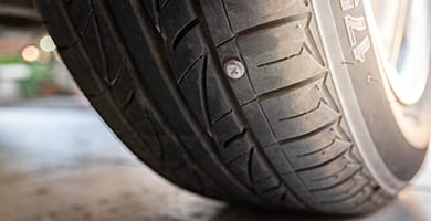 beck's auto center will access the puncture in your tire to see if a patch or total replacement is needed