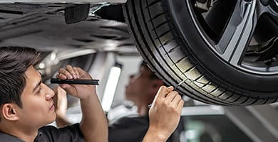 beck's auto center will check your tires for tire wear & vibrations