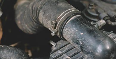 broken old diesel engine