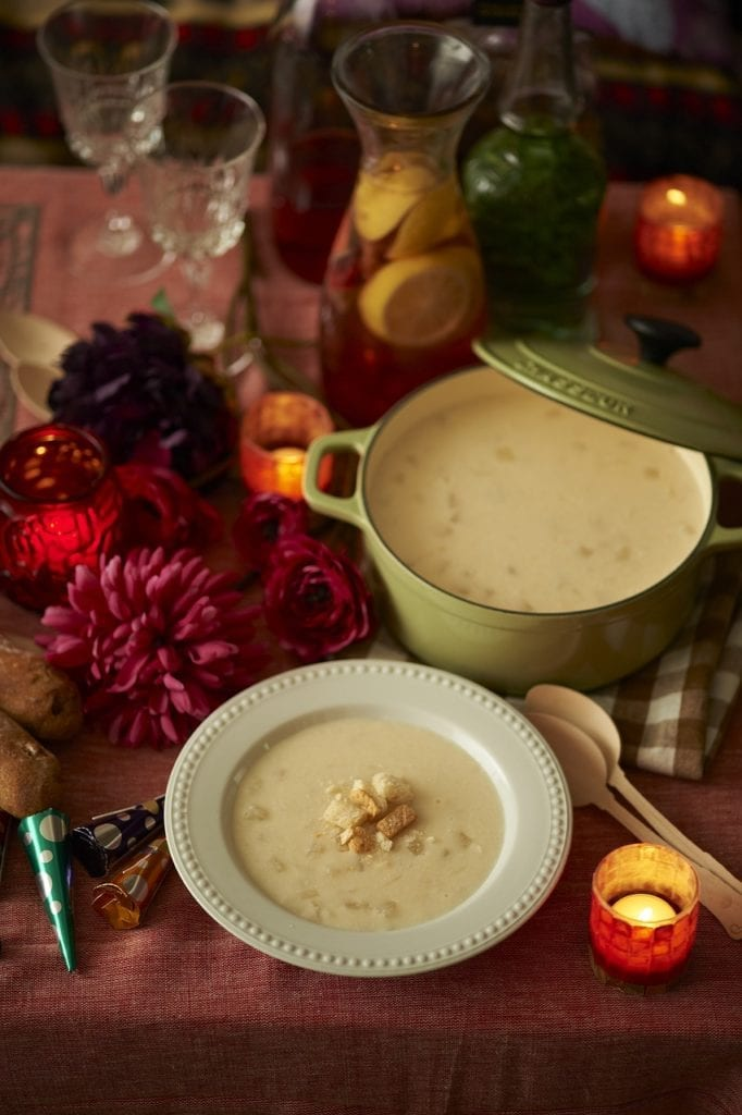 bowl, cream, food