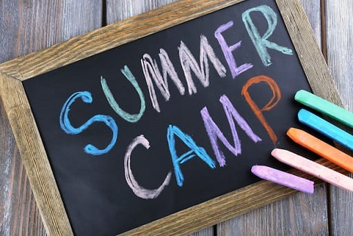 Summer camp slate showing Beck's tips for finding a summer camp