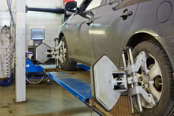 Wheel alignment demonstration by Beck's Auto Center